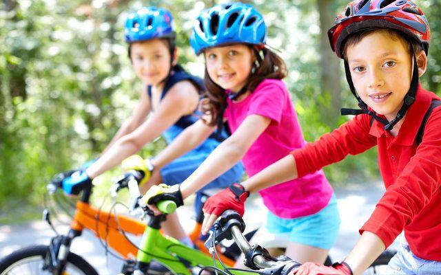 Teaching kids how to ride a bike learn to ride a bike wear a helmet