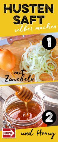 Hustensaft mit Zwiebeln selber machen Pinterest