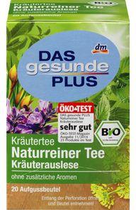 Naturreiner Tee Kräuterauslese von dm – Kräutertee im Test ohne Giftstoffe