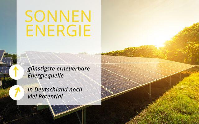 Erneuerbare Energien - Sonnenenergie Photovoltaik
