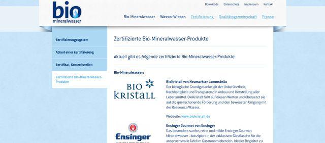 Bio-Mineralwasser ist das Siegel für Lammsbräu und andere Marken.