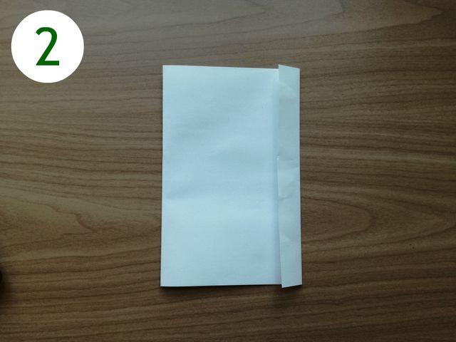 Papiertüten basteln: Schritt 2