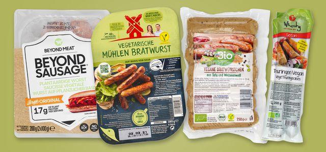 Vegane, vegetarische Bratwürstchen Öko-Test