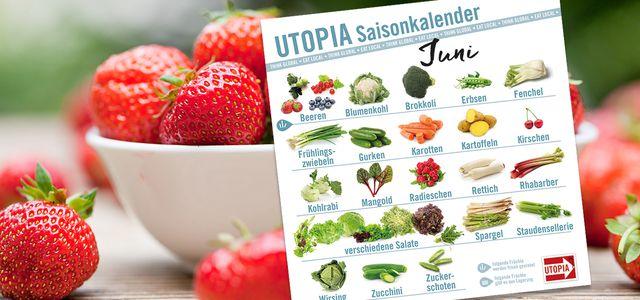 Saisonkalender Das Gibts Im Juni Utopiade