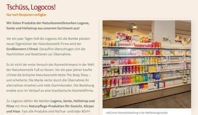 acc8f0dc9e0c0e Wegen L Oréal-Übernahme  Dieser Bio-Markt schmeißt beliebte ...