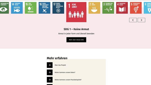 Das SDG-Portal leitet seine Ziele von den SDG-Kategorien der UN ab.