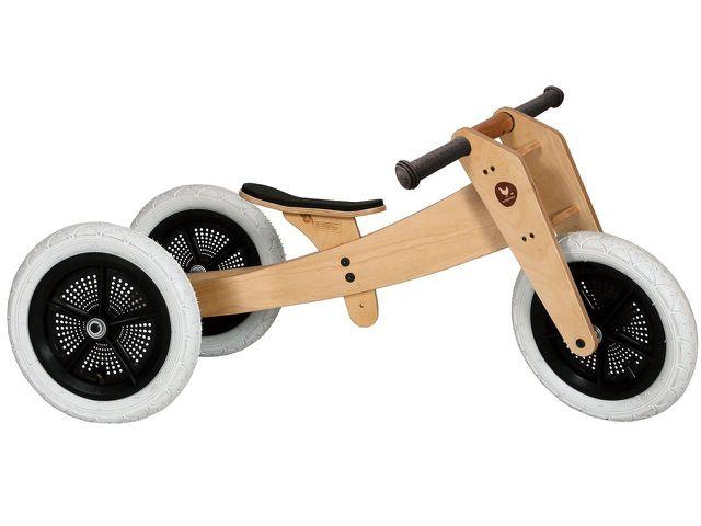 Die Laufräder von Wishbone kannst du durch wenige Handgriffe in ein Dreirad verwandeln.