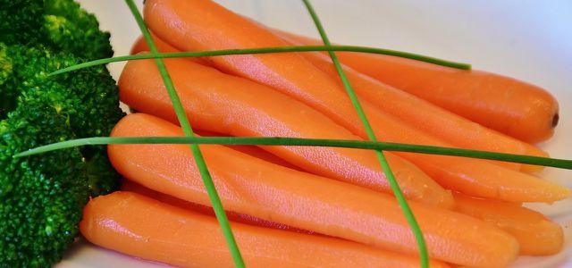 Frisch blanchiertes Gemüse