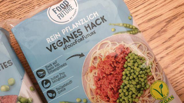 Veganes Hackfleisch von Penny auf der Basis von Erbsenproteinen