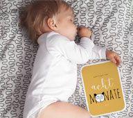Meilensteinkarten sind ein praktisches Babygeschenk.