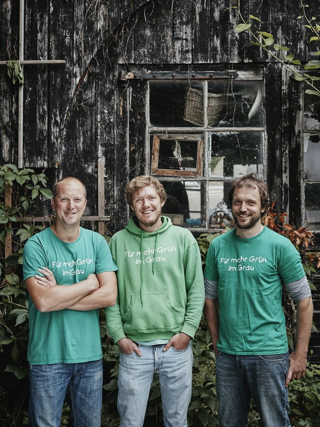 Die drei Stadtgärtner-Gründer