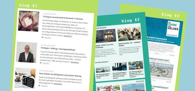 grüne nachhaltige finanzblogs