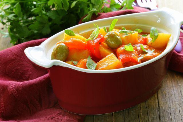 Kartoffel-Gulasch ohne Fleisch.
