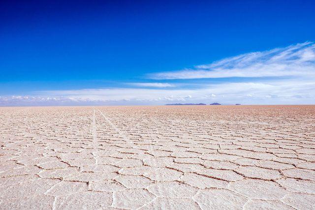 Lithium im Salar de Uyuni von Bolivien.
