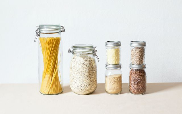 Precycling tips reusable glass jars