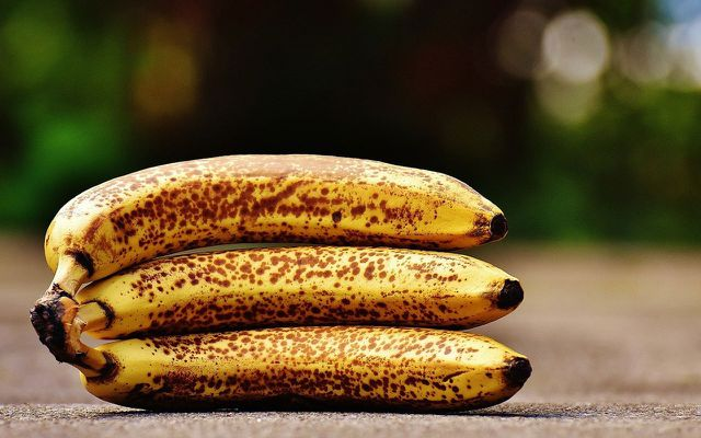 brown bananas on the street