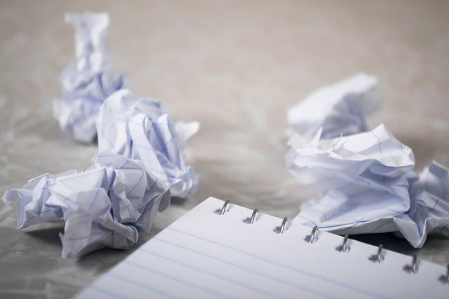 We often throw away bits of paper that could be reused as scrap paper.