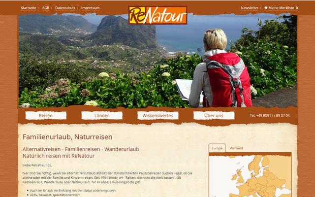 Ökologische Reiseportale: Renatour