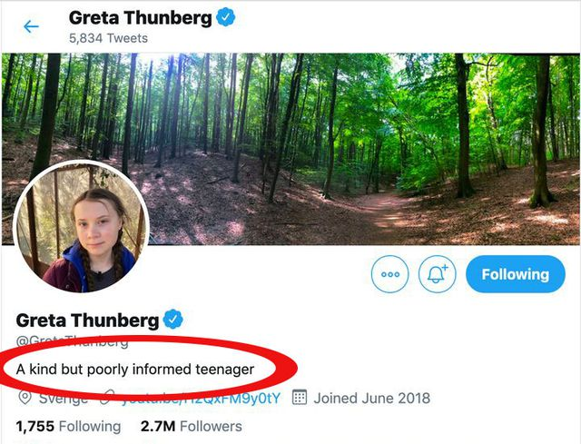 Greta Thunberg, Putin