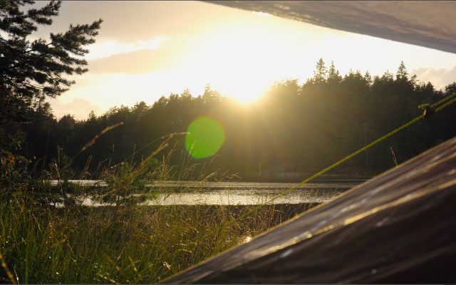 Minimalist living get outside outdoors camping