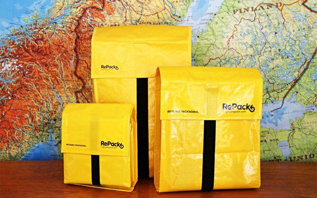Die Mehrwegversandtaschen des finnischen Unternehmens RePack können durchschnittlich 20 mal genutzt werden