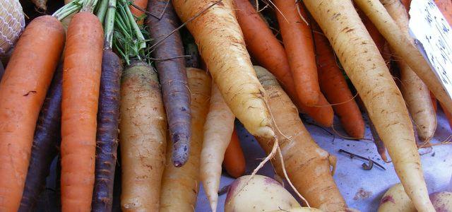 Karotten enthalten viel Beta-Carotin und sind gut für Haut und Haare.