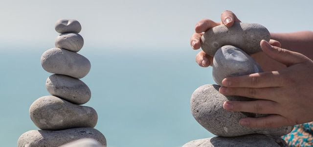 How to be more patient stacking rocks beach
