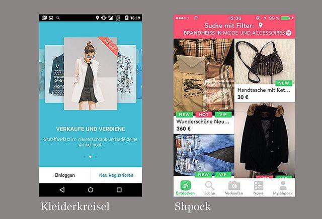 Grüne Apps: Kleiderkreisel, Shpock, Stuffle