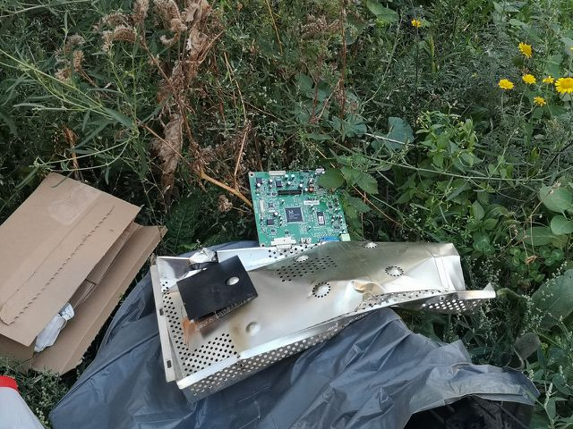 Schadstoffe aus alter Elektronik wandern beim Littering direkt in die Umwelt.