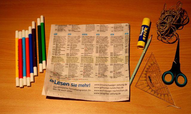 Ein Quadrat als Grundlage eines Papierdrachens