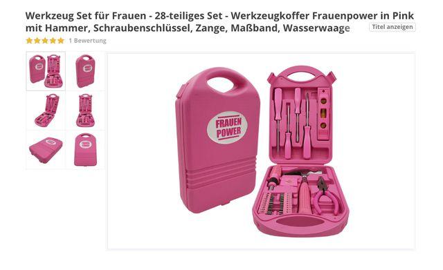 Absurde Frauenprodukte: pinker Werkzeugkoffer