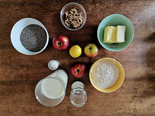 Für den Apfel-Mohn-Kuchen benötigst du hochwertige Zutaten.