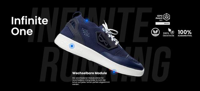 Infinite Running verkauft nachhaltigere Schuhe.