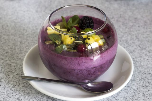 You can serve the blueberry soup as a dessert or a starter.