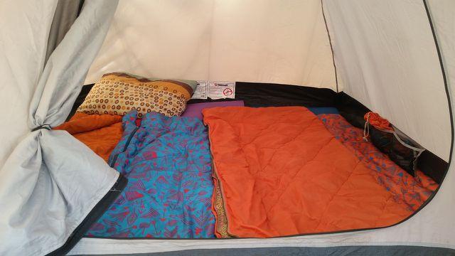 Ausrüstung und Zelt