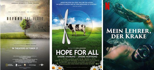 Before the Flood (2016), Hope for All (2016), Mein Lehrer, der Krake (2020)