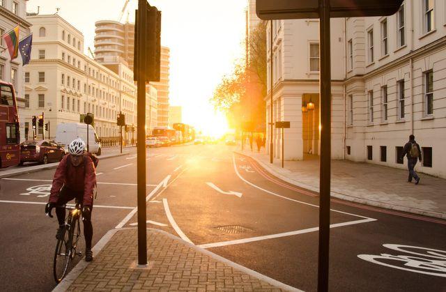 Mit dem Rad zur Arbeit fahren ist auch Frühsport.