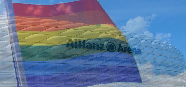 Die Allianz Arena in Regenbogenfarben?