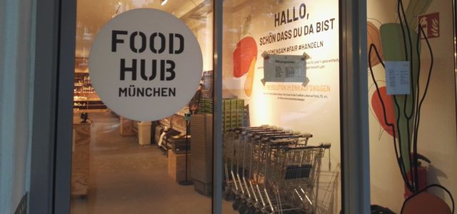 Der Foodhub in München ist ein solidarischer Supermarkt.