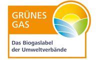 Label/Siegel: Grünes Gas für Ökogas und Biogas
