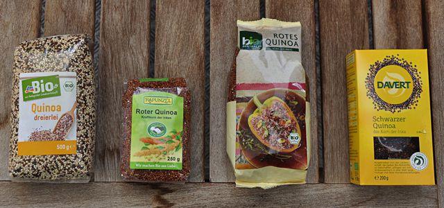 Bio Quinoa kaufen: roter, weißer, schwarzer, gemischter