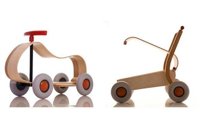 Kindergeschenk: Holzfahrzeuge