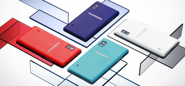 Indigo, Türkis, Korallrot und Weiß: neue Farben des Fairphone 2 Slim Case