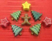 salt dough ornaments Christmas tree stars gingerbread man