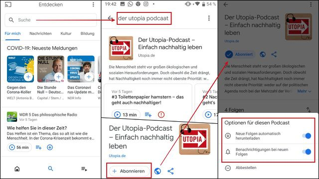 Utopia-Podcast auf Google Podcasts