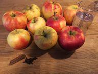 Zutaten für selbstgemachtes Apfelmus