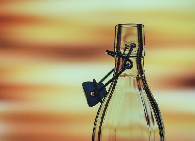 Häufig wiederverwendbar: Glasflaschen.