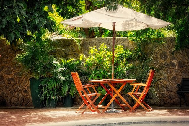 Im Sommer gefällt es der Keulenlilie auch auf Terrassen und Balkonen.