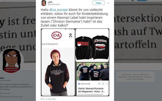 C&A Pullover Nazi Neonazi