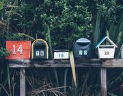Newsletter zu Nachhaltigkeit - Briefkästen